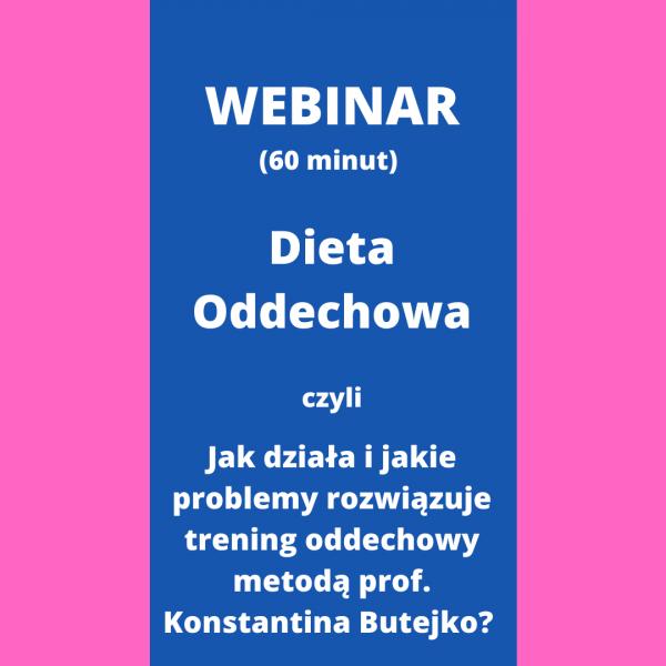 Metoda TMB - Dieta Oddechowa - WEBINAR